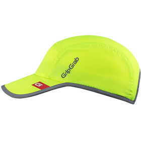 GripGrab Running Hi-Vis Casquette de running haute visibilité, fluo yellow